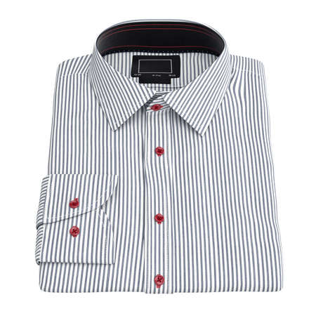 white clothing: Mens striped shirt. 3D graphic object on white background isolated