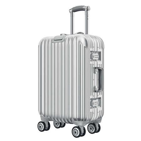 Reis grote bagage. 3D grafische object op een witte achtergrond