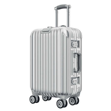 Travel large luggage. 3D graphic object isolated on white background Reklamní fotografie