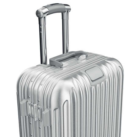 zoomed: Baggage large, zoomed view. 3D graphic object on white background