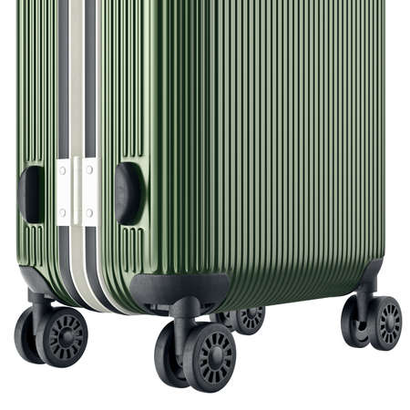 zoomed: Luggage large, zoomed view. 3D graphic object on white background Stock Photo