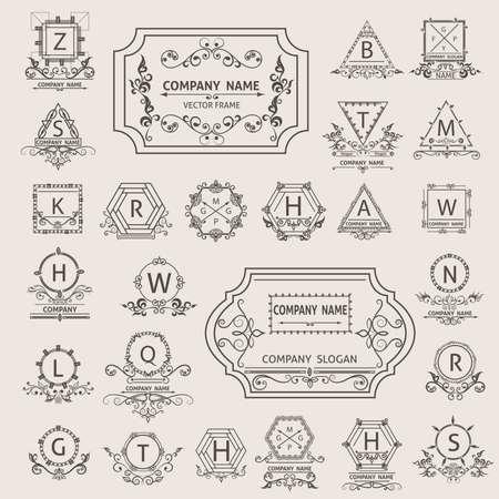 ornamental elements: Corporate style. Ornamental elements. Vector illustration