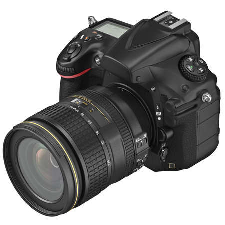 slr: Digital SLR photo camera with professional optics. 3D graphic