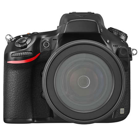 Optical lens DSLR camera professional, front view. 3D graphic Stock fotó