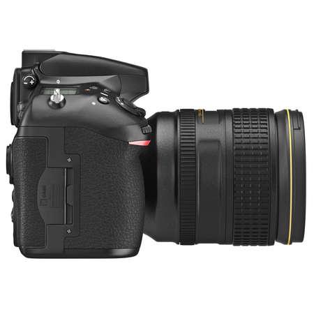 digicam: DSLR photo camera professional, side view. 3D graphic Stock Photo
