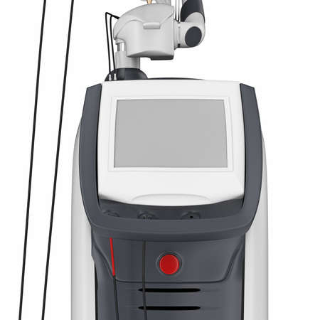 stimulator: Medical laser device for treatment and beauty care, close view. 3D graphic Stock Photo