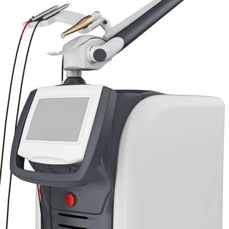 therapeutics: Medical laser device for treatment and beauty care, close view. 3D graphic Stock Photo