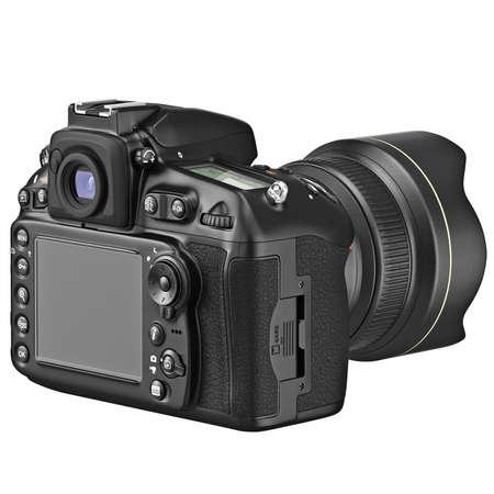 Fotocamera met een groot LCD display. 3D grafische Stockfoto