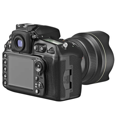 lcd display: Photo camera with large LCD display. 3D graphic