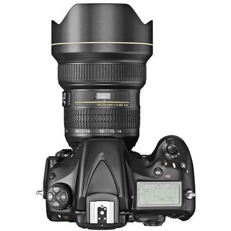 dslr: DSLR camera, lens optical zoom, top view. 3D graphic