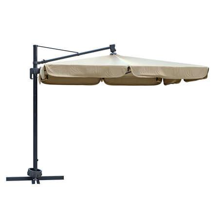 flaxen: Flaxen beach umbrella sunshade for relax. 3D graphic