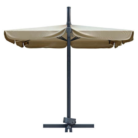 sun umbrella: Sun umbrella, sunshade for relax, back view. 3D graphic
