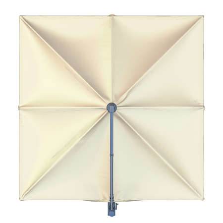 sun protection: Square beach umbrella for sun protection, top view. 3D graphic