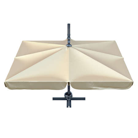 sun protection: Square patio umbrella for sun protection, top view. 3D graphic