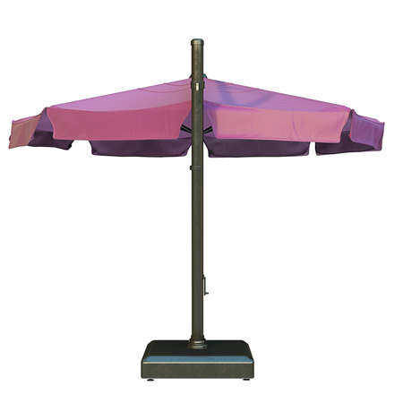 sun umbrella: Sun umbrella for relax, back view. 3D graphic