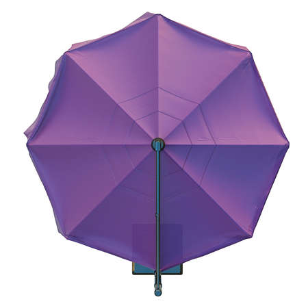 patio furniture: Beach umbrella for relax, top view. 3D graphic