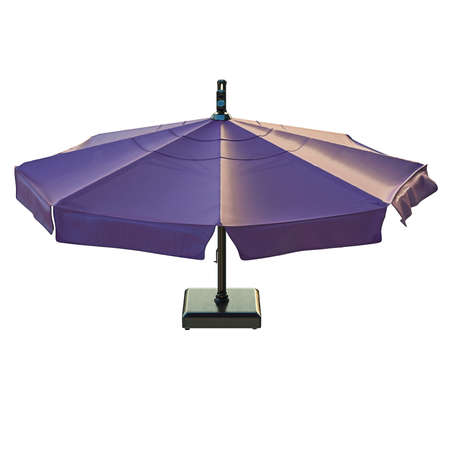 flaxen: Patio umbrella for relax, top view. 3D graphic