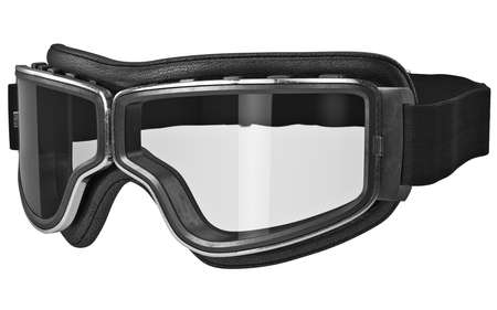 Classic retro goggles in vintage style with black strap. 3D graphic Stock Photo