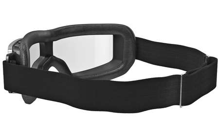 Classic stylish leather glasses with black strap. 3D graphic