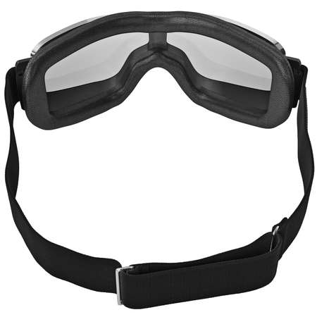 strap: Vintage retro goggles with black strap for motorcyclist. 3D graphic