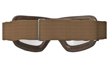 strap: Brown glasses matte strap classic, back view. 3D graphic