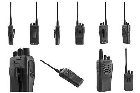 regulators: Set portable radio mobile telephone. 3D graphic Stock Photo