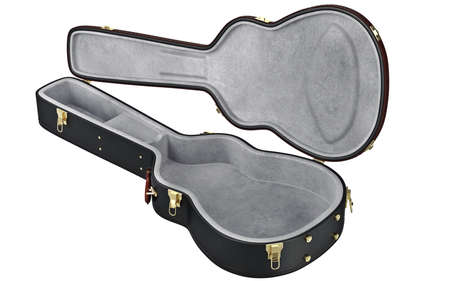 guitar case: Open guitar case container for protection musical equipment. 3D graphic