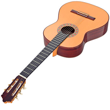 fingerboard: Classical guitar wooden professional fingerboard. 3D graphic