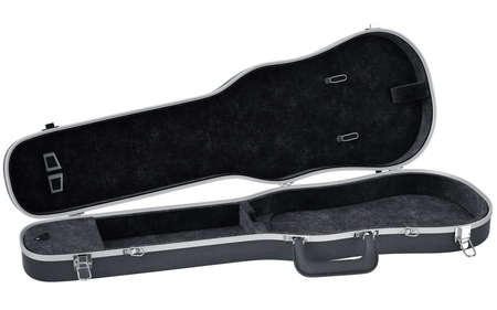 safe and sound: Black open case viola musical instrument accessories. 3D graphic