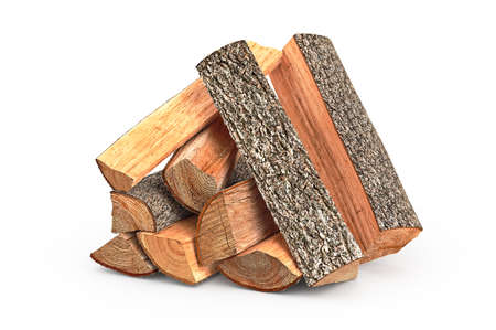 stack of firewood: Firewood stack dry chopped, objects. 3D graphic