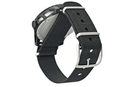 strap: Wrist watches military with black textile strap. 3D graphic