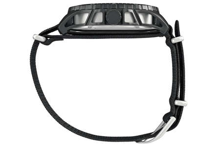 wrist strap: Military watch with fabric wrist strap, side view. 3D graphic Stock Photo
