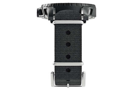 military watch: Modern military watch, front view. 3D graphic