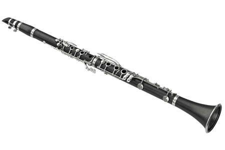 clarinet: Clarinete clásico instrumento de viento musical. gráfico 3D