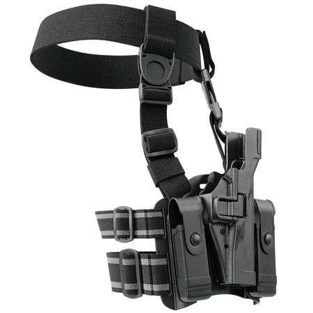 holster: Holster on belt for gun uniform for security. 3D graphic