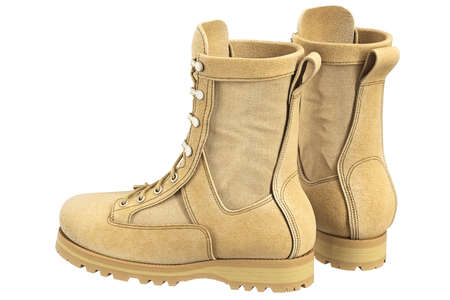 military boots: Military boots suede soldier gear. 3D graphic