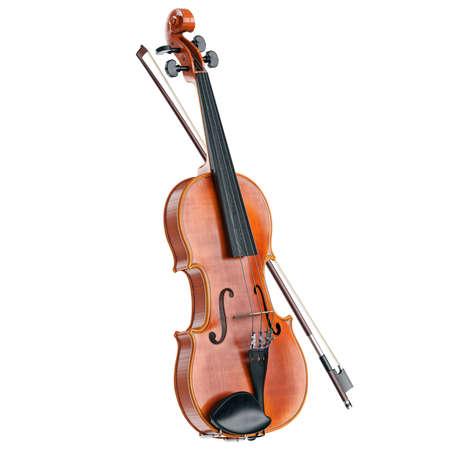 caoba: Violín clásico instrumento musical de cuerda de madera. gráfico 3D Foto de archivo
