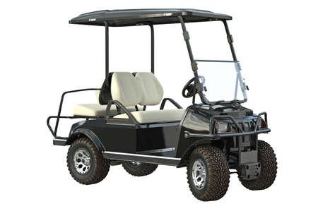 golfing: Golf car transport golfing equipment. 3D graphic Stock Photo