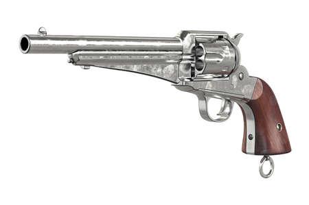 antiquities: Gun cowboy vintage arms equipment. 3D graphic