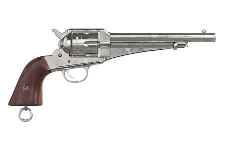 antiquities: Gun cowboy classical pistol, side view. 3D graphic