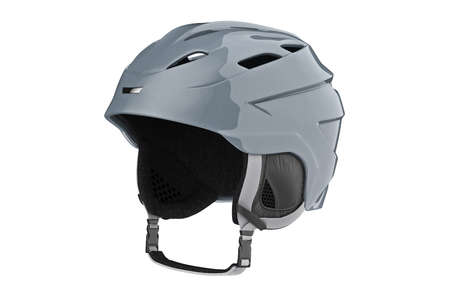 safely: Helmet ski gray sportswear accessory. 3D graphic