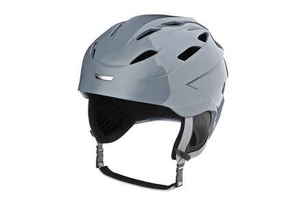 safely: Helmet ski winter sportswear protection. 3D graphic Stock Photo