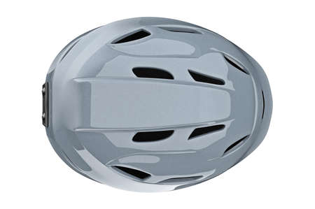 safely: Helmet ski protective equipment, top view. 3D graphic