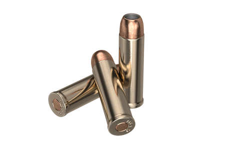shiny: Bullet gun ammunition of shiny metal. 3D graphic