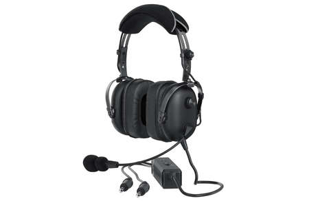 matted: Headphones black matted aviation digital. 3D graphic