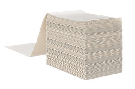 stack of files: Paper stack label office file. 3D graphic