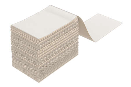 stack of paper: Paper stack heap barcode sticker. 3D graphic Stock Photo