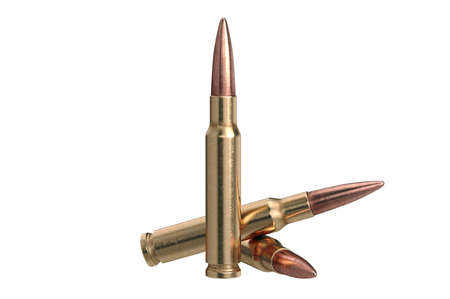 Bullet rifle military explosive firearm. 3D graphic