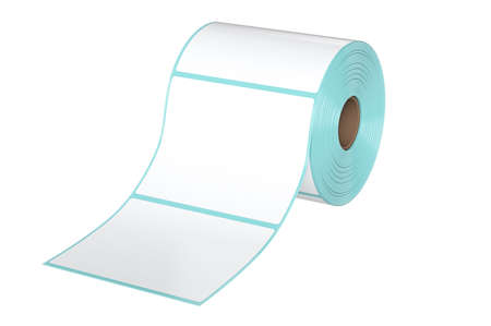 large group of objects: Roll stack white paper group. 3D graphic