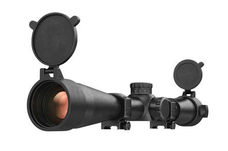 accuracy: Scope optical weapon accuracy device. 3D rendering